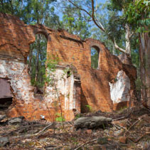 Newnes Shale Oil Factory Ruins. New South Wales, Victoria, Australia