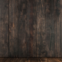 Dark brown wooden table and background for product placement with copy space
