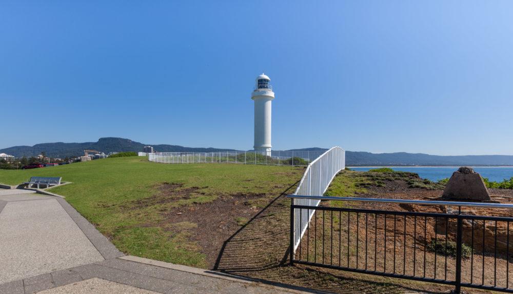 Kiama Lighthouse on a bright sunny summer day, Sydney, Australia