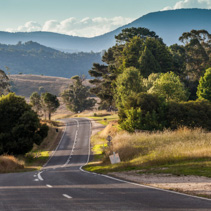 Rural road in Australian countryside