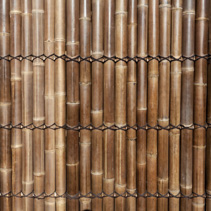 Fence made of bamboo background texture
