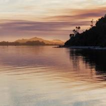 Vivid sunset, Snowy River Estuary, Victoria, Australia