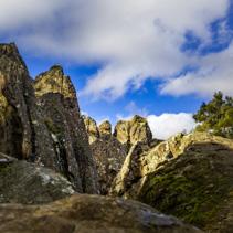 Hanging Rock - sacred volcanic rock formation in Macedon Ranges, Melbourne, Australia