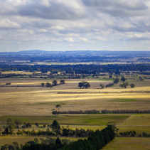 Australian countryside in winter near Melbourne