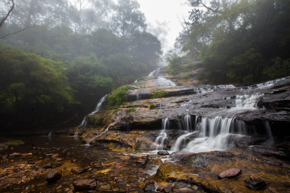 Katoomba cascades waterfall in Blue Mountains, Australia