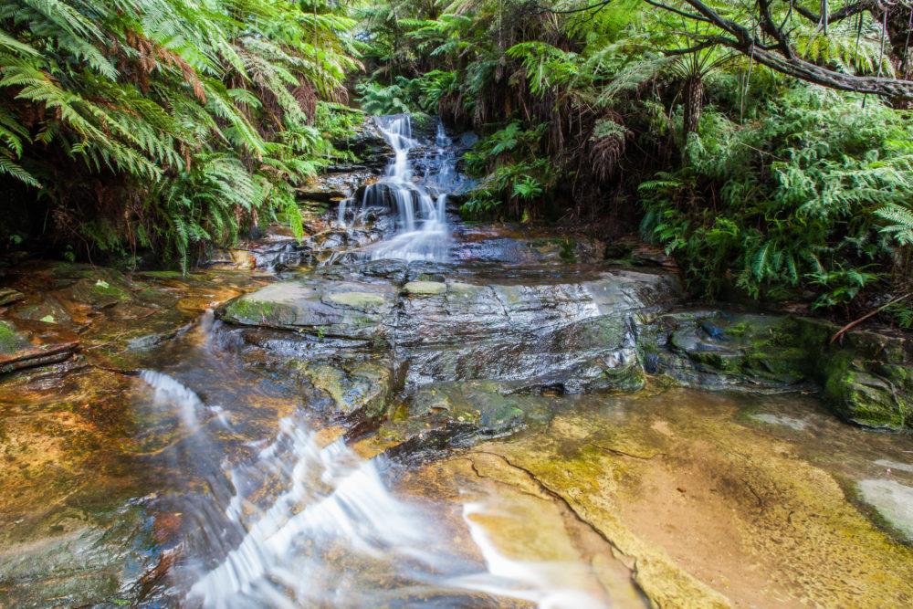 Tiny waterfall in Blue Mountains, Australia