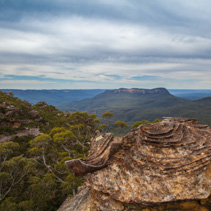 Unusual Rock Formation in Blue Mountains of Australia