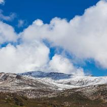Snowy mountains landscape. Australian Alps, Mount Kosciuszko Nat