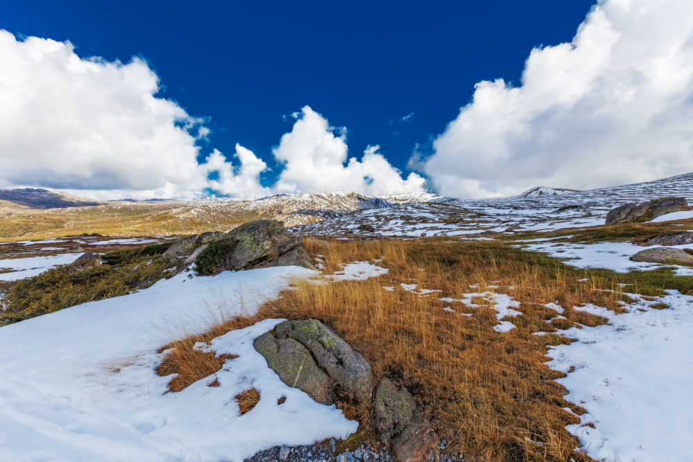 Beautiful landscape of Kosciuszko National Park, New South Wales
