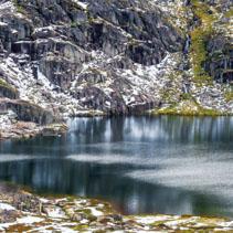 Blue lake at Mount Kosciuszko National Park, Australia