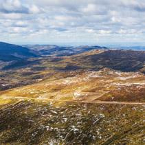 Mount Kousciuszko summit trail landscape. New South Wales, Austr