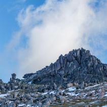 Rocky outcrops closeup near Mount Kosciuszko summit walk