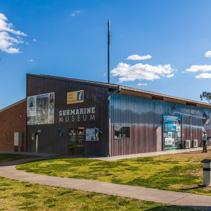 Holbrook Submarine Museum on bright sunny day