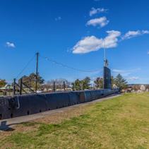 HMAS Otway submarine in a park