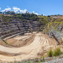 Wide panorama of limestone mine in Australia