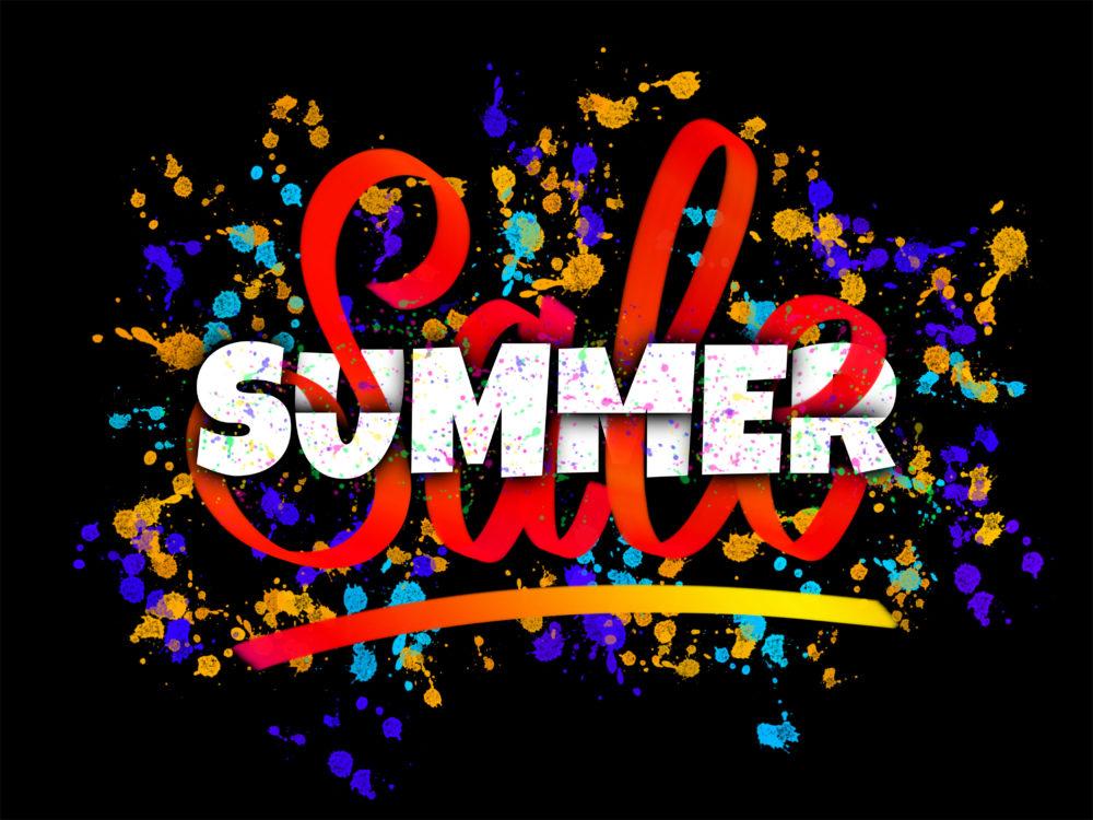 Summer Sale creative lettering design sign