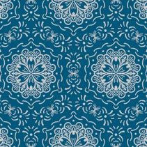 Hand drawn floral abstract seamless pattern