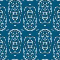 Angry faces - hand drawn doodle seamless pattern