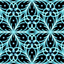 Winter frost and snowflakes theme seamless hand drawn pattern
