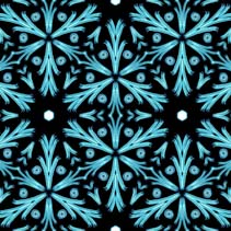 Snowflakes and winter frost seamless pattern