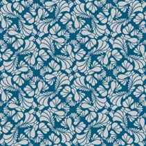 Abstract seamless hand drawn patter with stylized leafs