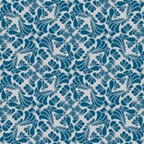 Stylized leafs and flowers - seamless pattern